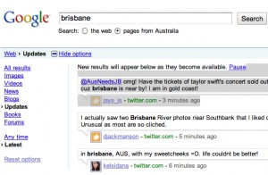 google realtime search screenshot