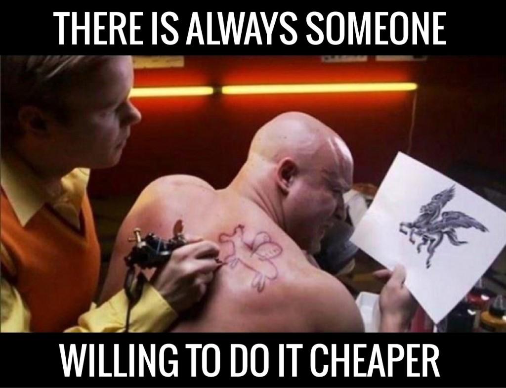 Graphic designer meme tattoo
